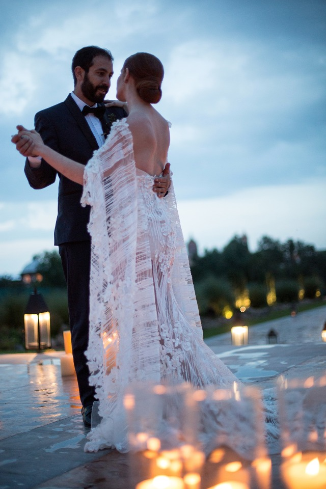 first dance by candle light
