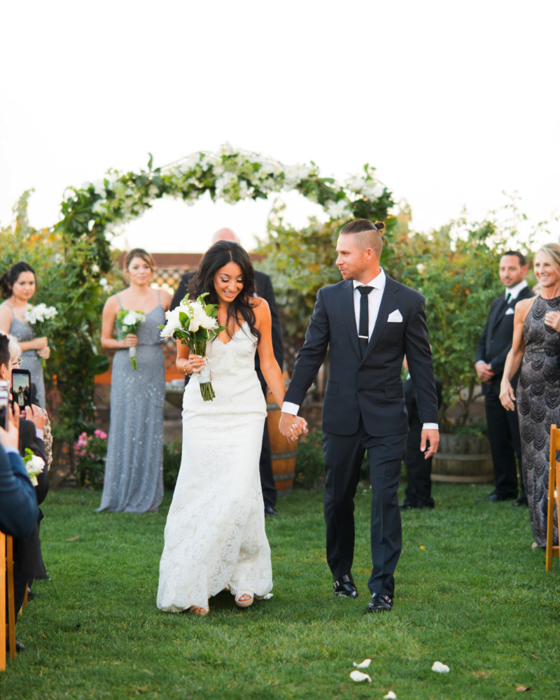 First moments as a married couple || Scribner Bend Vineyards Wedding