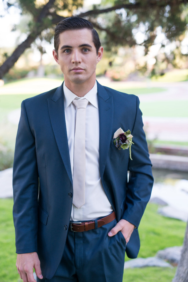 royal blue and white groomsman look