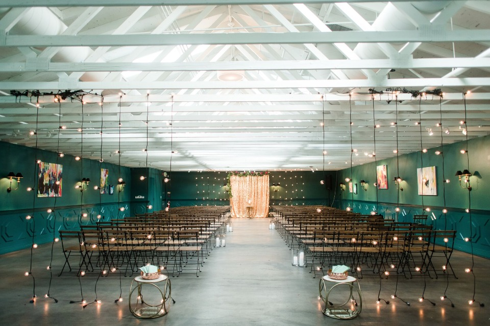 Colorful modern ceremony