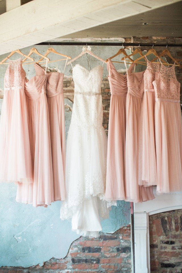 bridesmaid dresses in pink