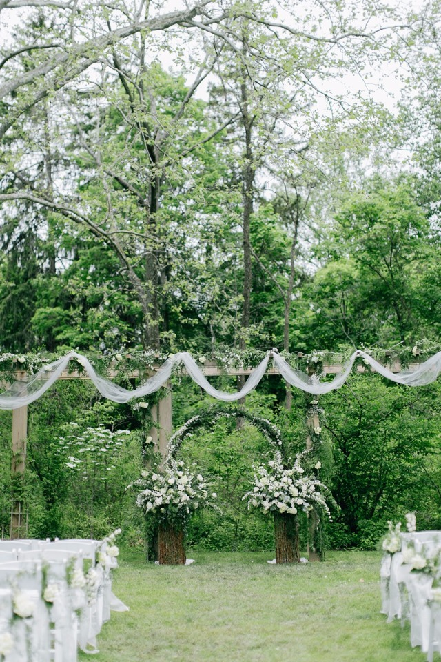 Whimsical outdoor ceremony
