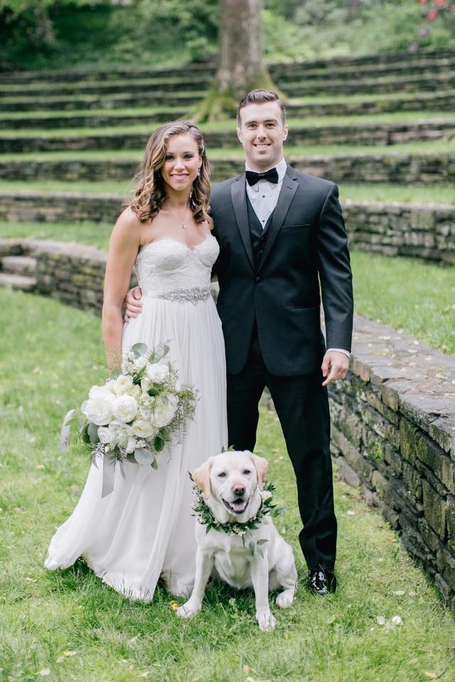 Stylish couple and pup