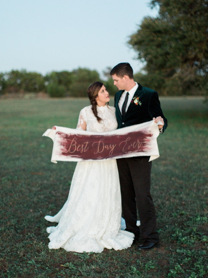 Hand painted wedding sign idea for the best day ever
