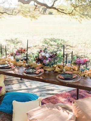 Jewel Toned Edgy Boho Wedding Ideas