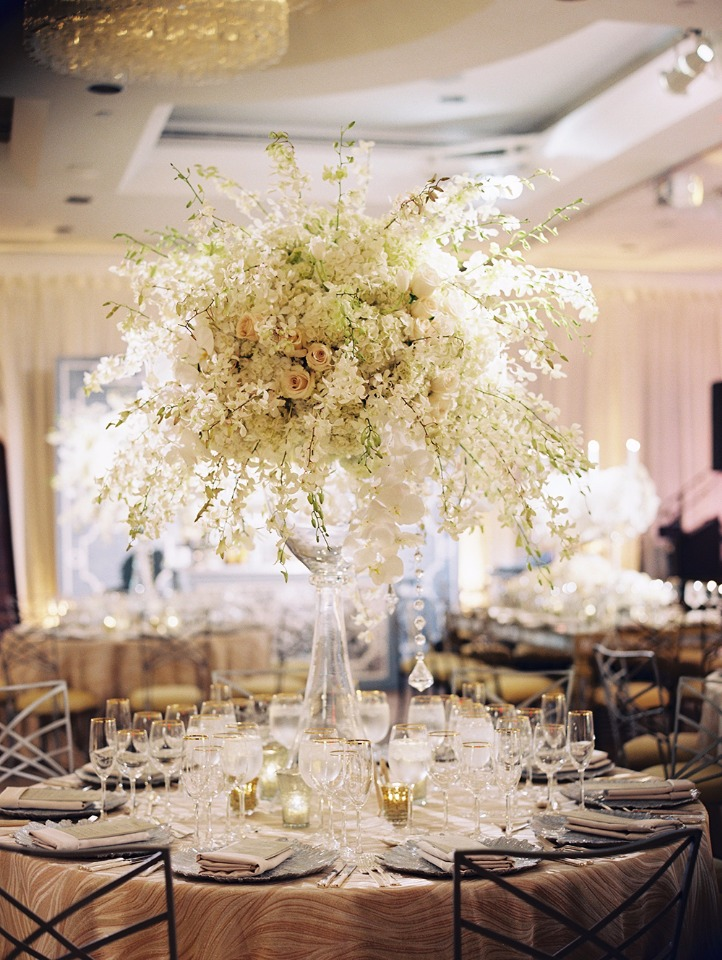 elaborate and elegant wedding centerpiece