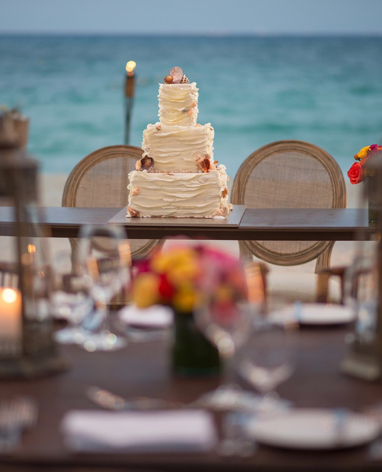seashell wedding cake for your beach wedding