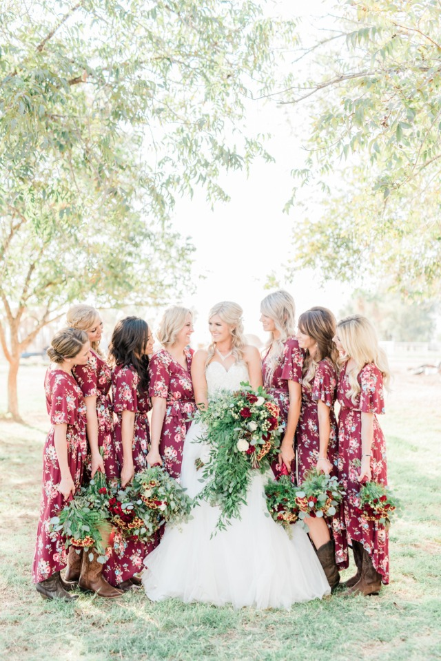 Pretty country bridesmaids