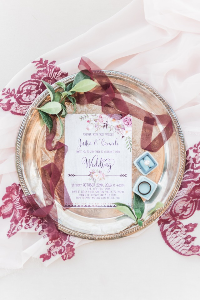 Floral wedding invite