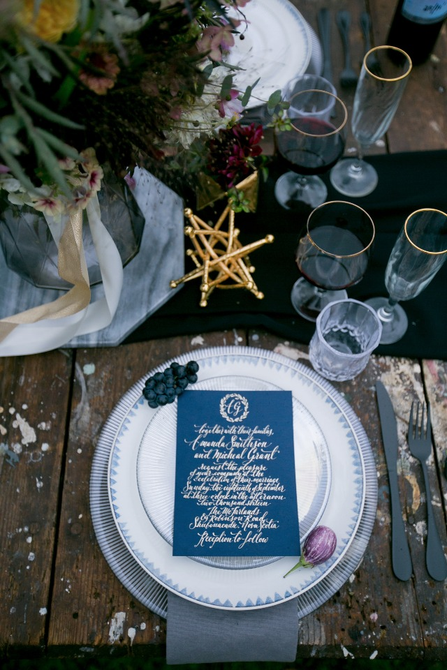 dark and moody color palette for your wedding day