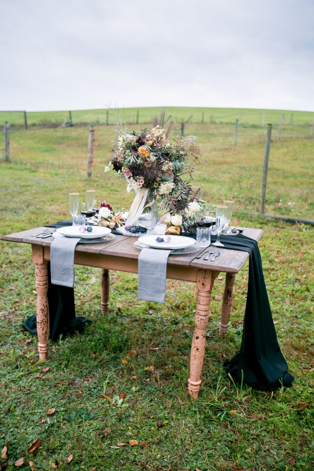 farm chic modern table decor