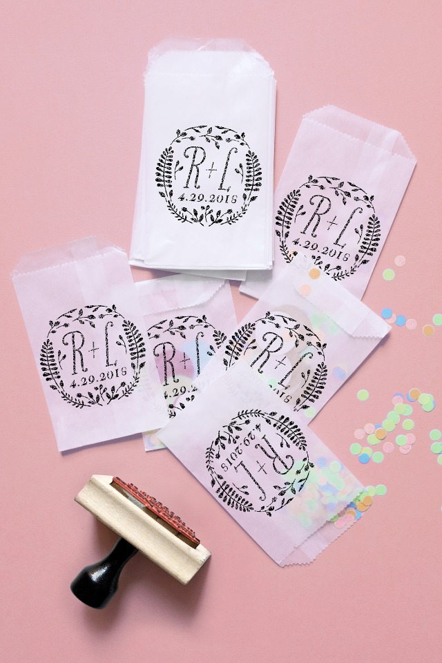 Printable Press logo stamped treat bags