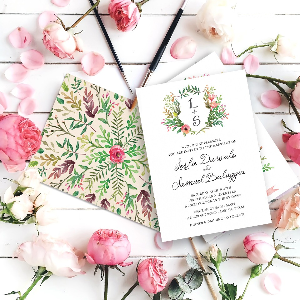 spring has sprung wedding invites from Printable Press