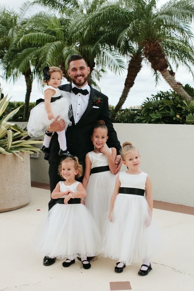 Groom and all the flower girls