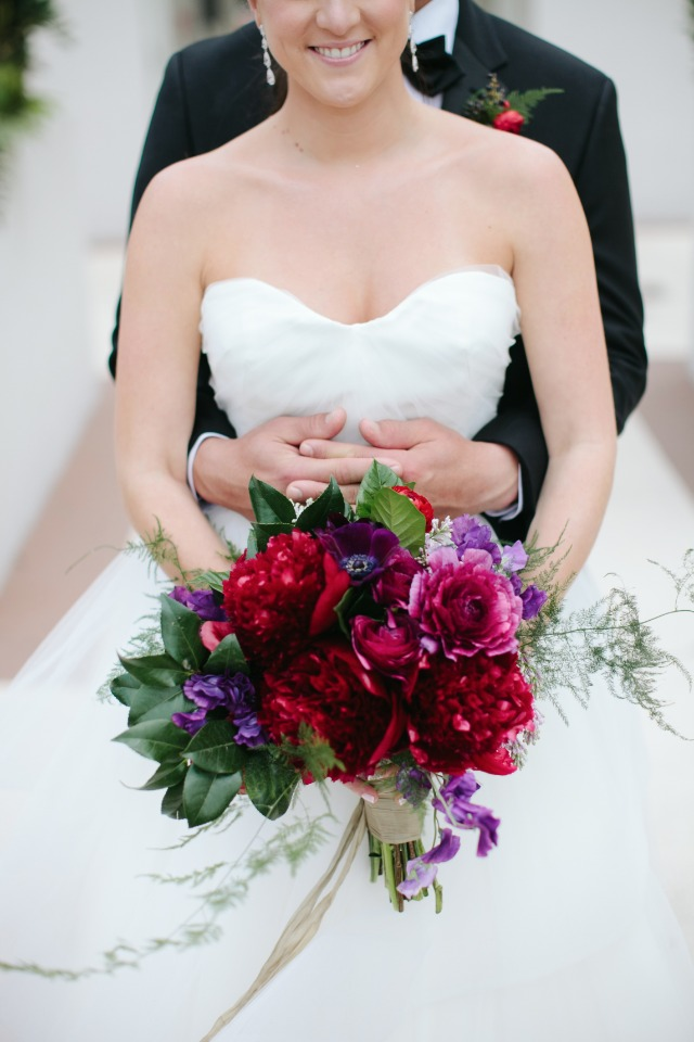 Love this jewel toned bouquet