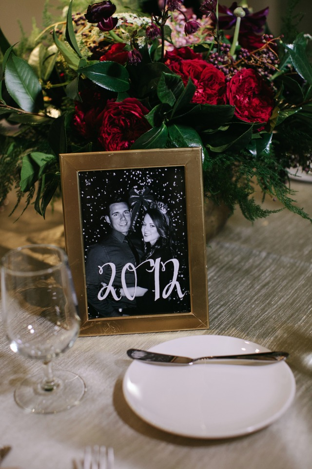 Photos table numbers idea