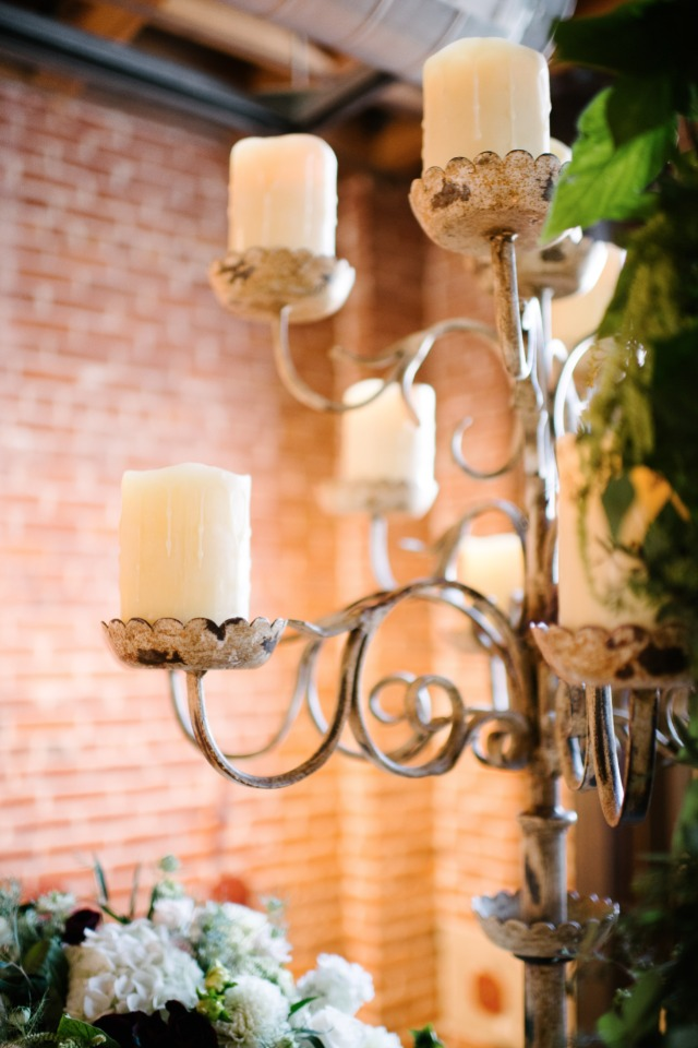 rustic candelabra wedding decor
