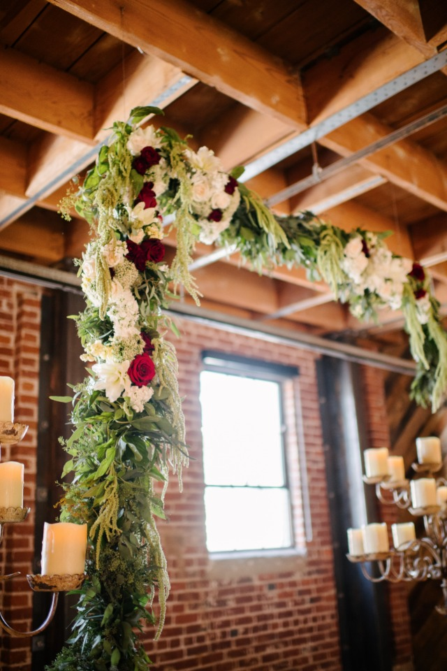 flower garland wedding backdrop arch