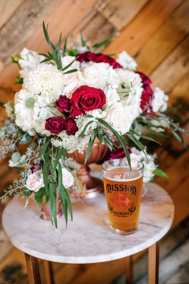blooms and beer wedding
