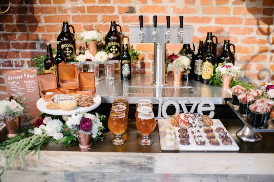beer and wedding sweets