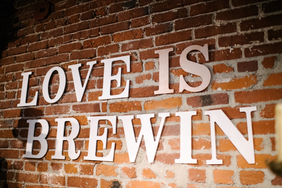 love is brewing sign