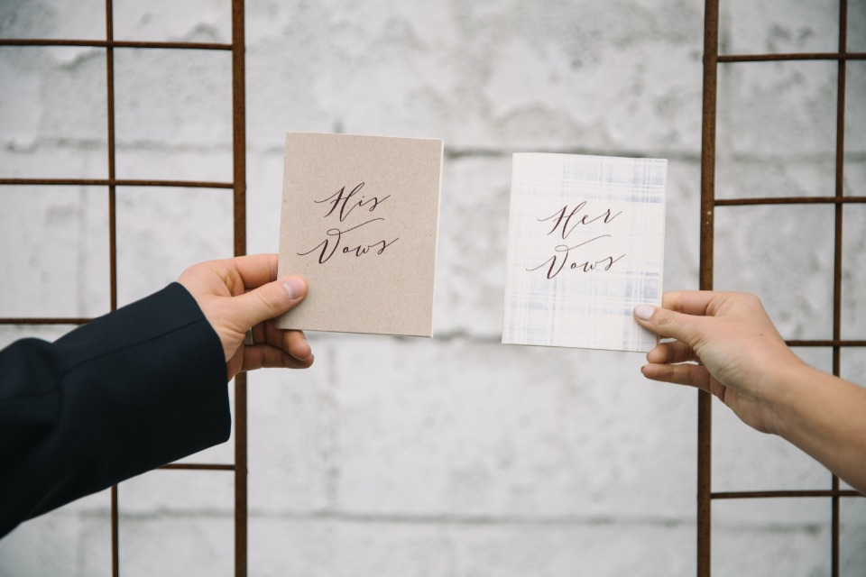 his and hers wedding vows