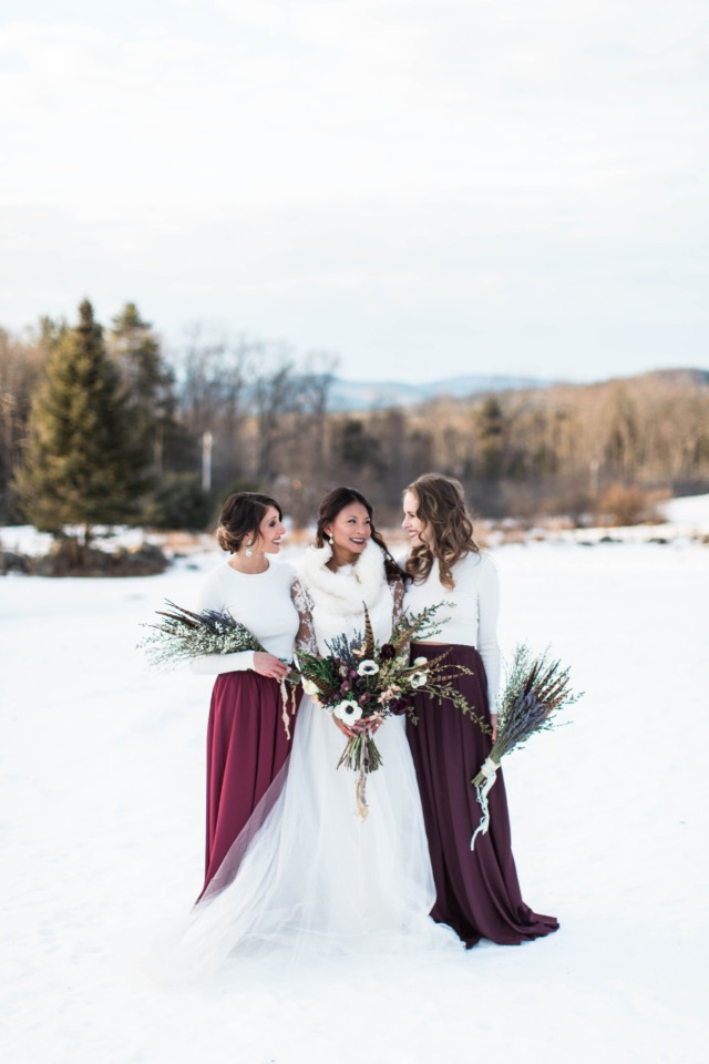 Winter bridesmaid look
