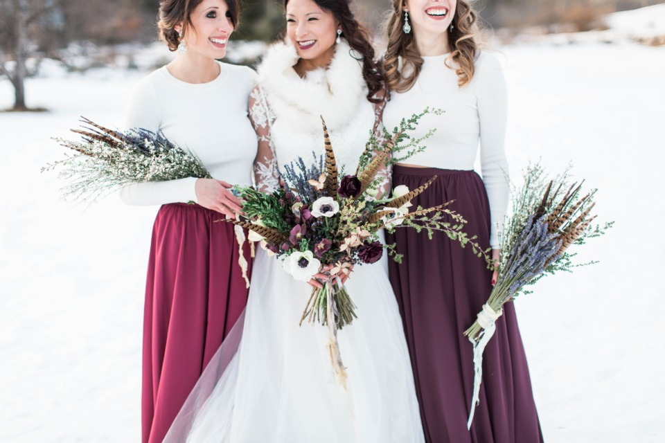 Unique and beautiful winter bouquets