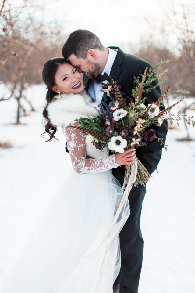Burgundy winter wedding ideas