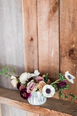 Burgundy and Blue Winter Wedding Ideas From Maine