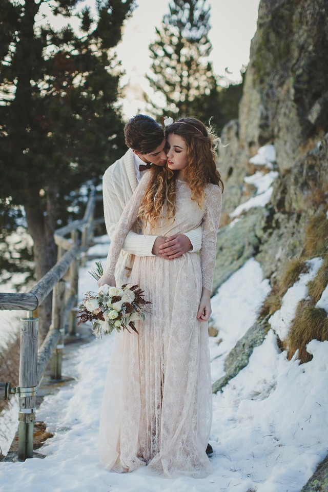 Frozen wedding shoot