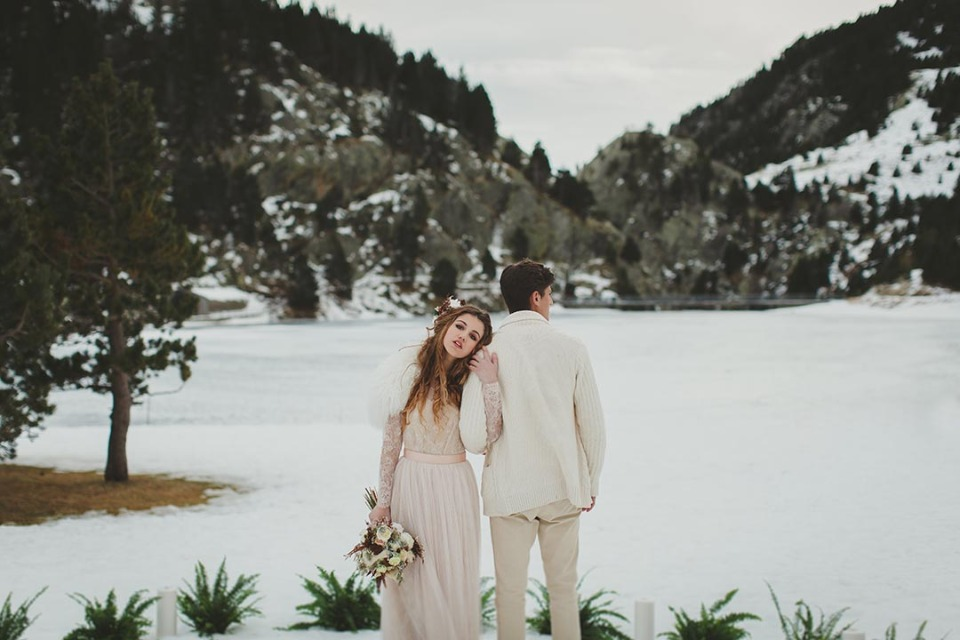Gorgeous frozen winter wedding