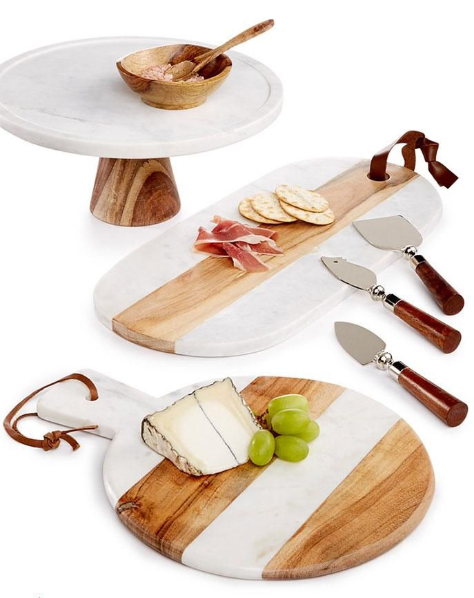 marble and wood cheese board from @macys