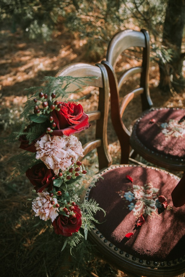 Vintage chair and florals