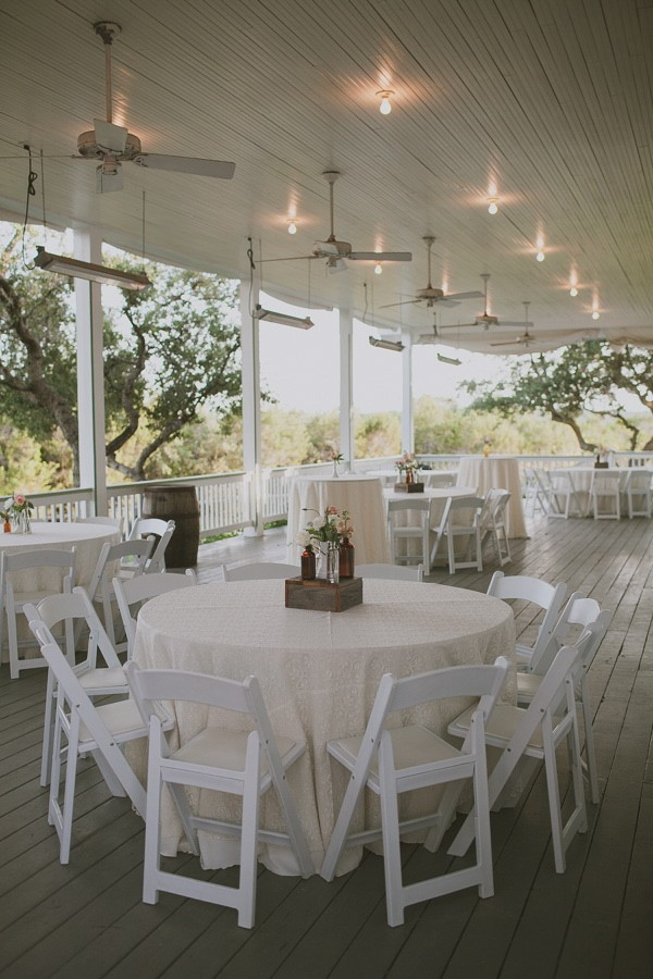 wrap around porch wedding reception
