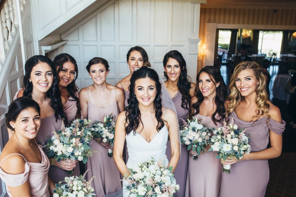 dusty purple bridesmaid dresses