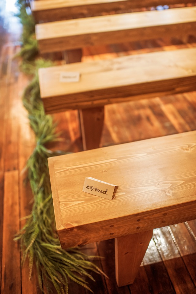reserved wedding seating