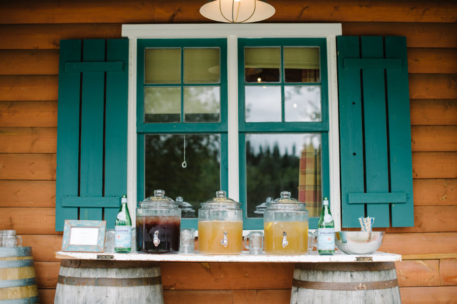 rustic refreshment station