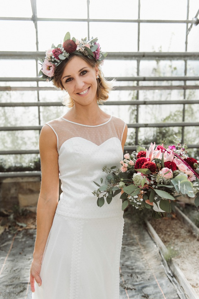 Beautiful boho bridal look