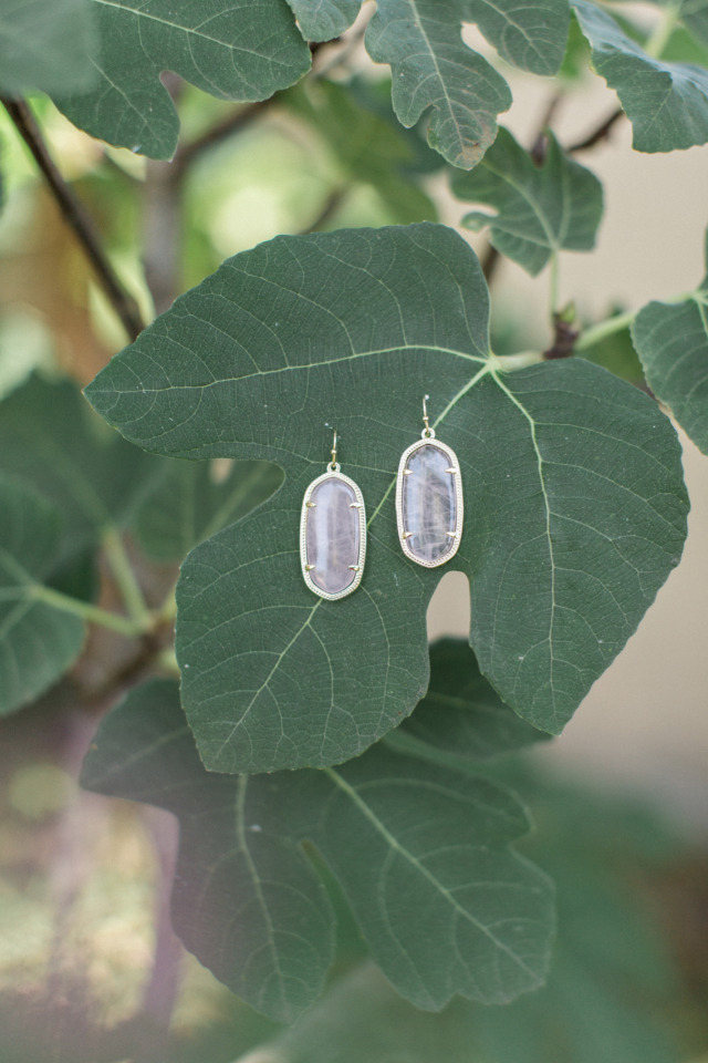 pretty quartz wedding earrings