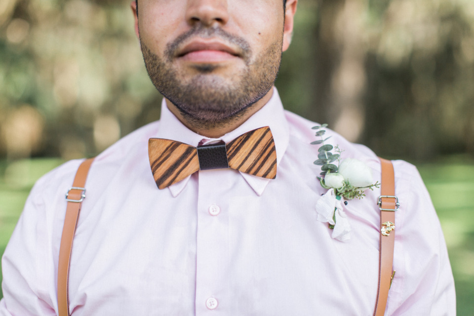 custom wooden wedding bow tie for groomsmen