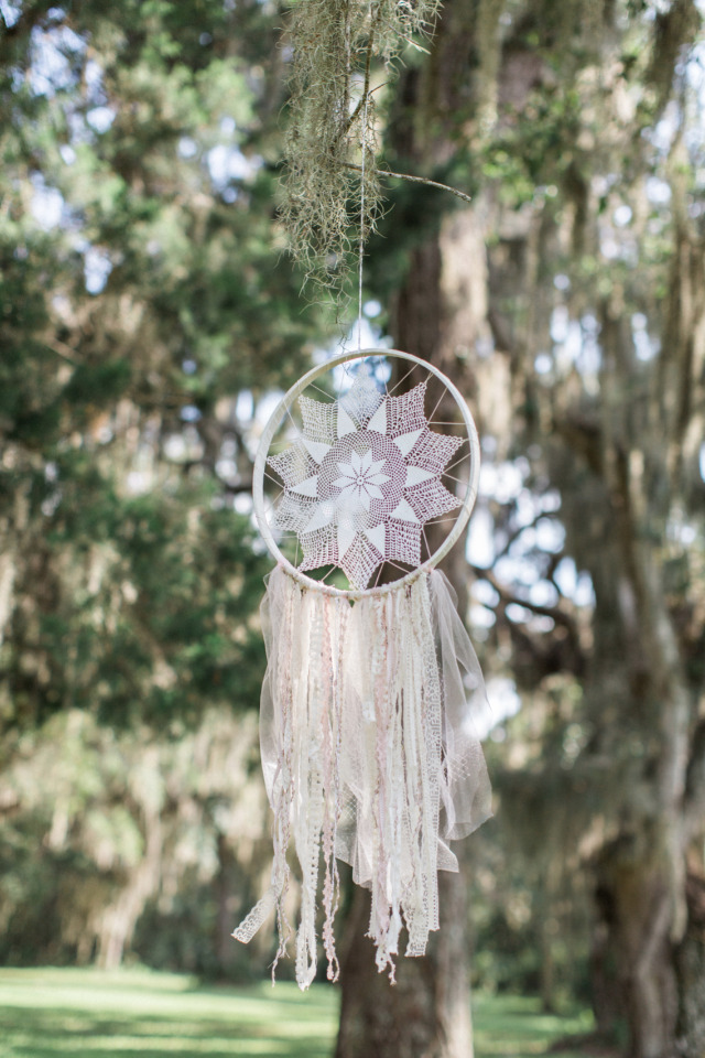 beautiful wedding dream catcher