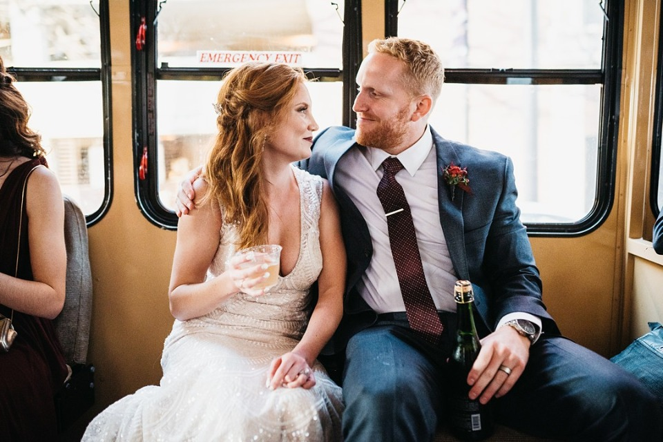 Cheers to this happy couple