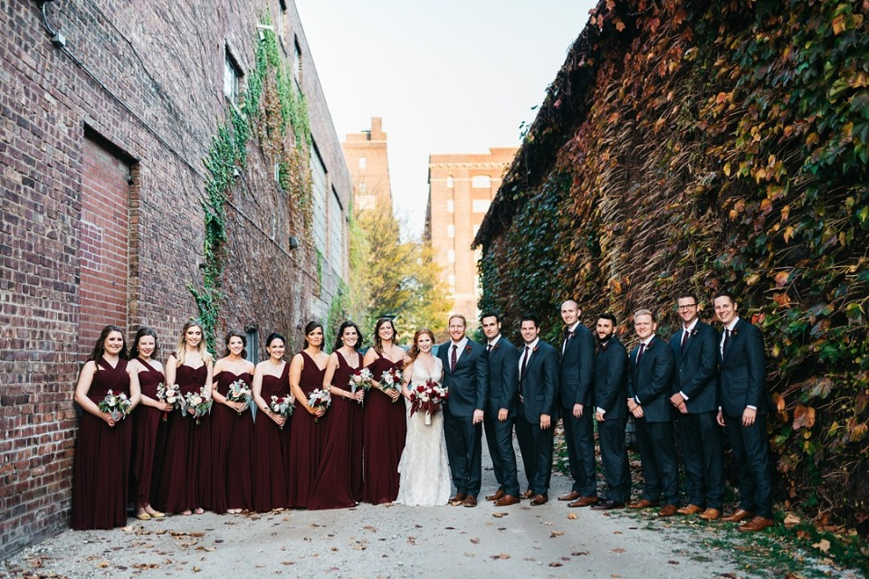 Huge bridal party
