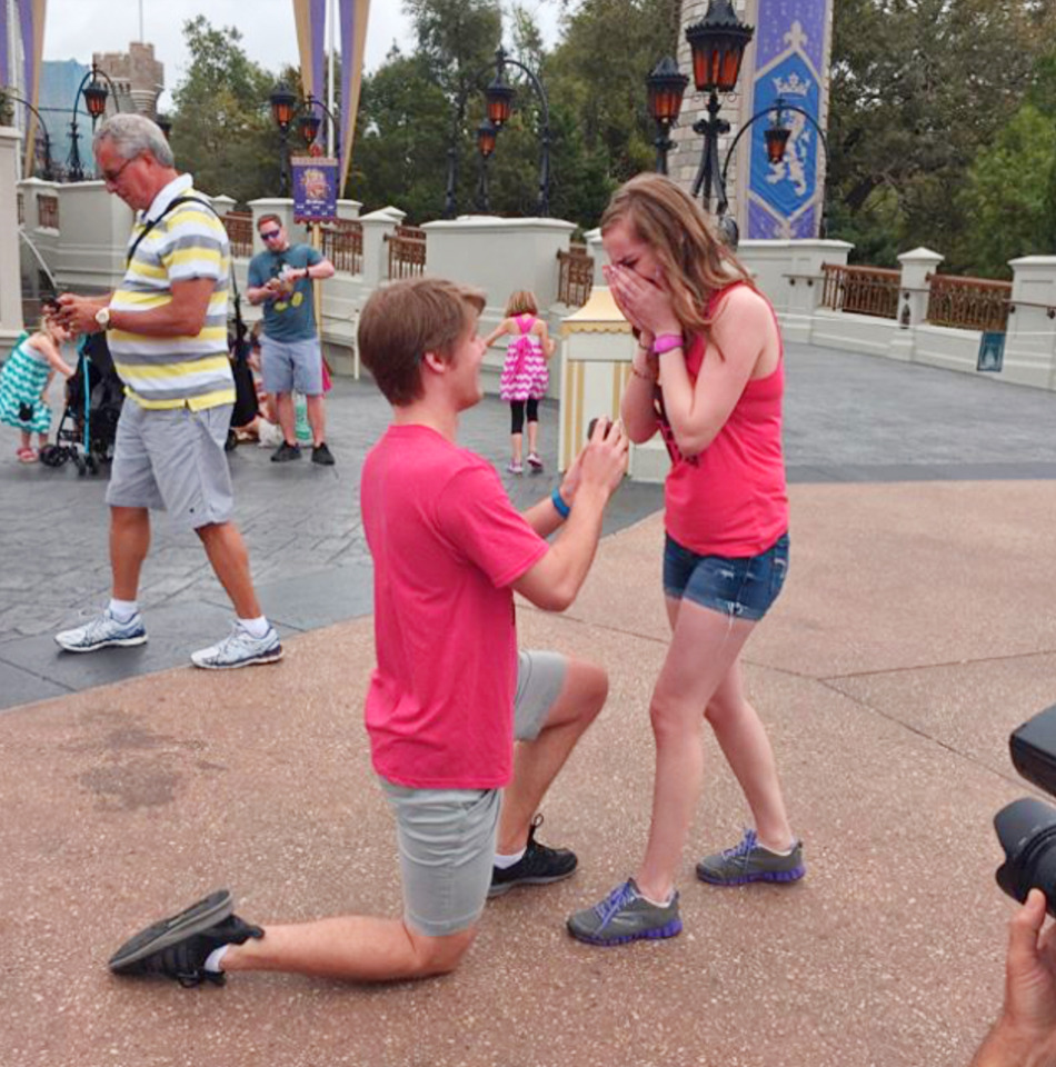 Disneyland surprise proposal