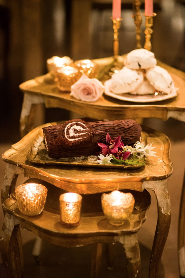 chocolate log and other desserts