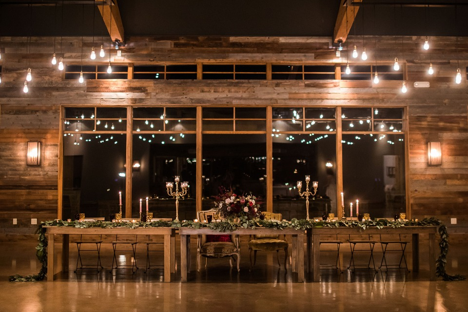 rustic and mysterious wedding table