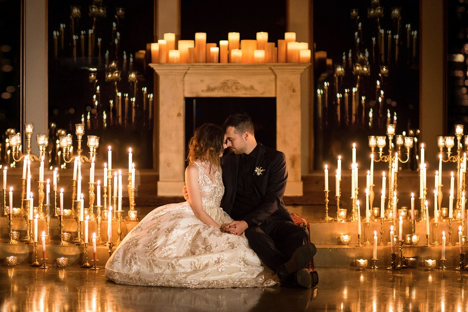 holy romance! We love this candle lit portrait!