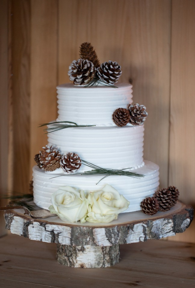 Pinecone wedding cake