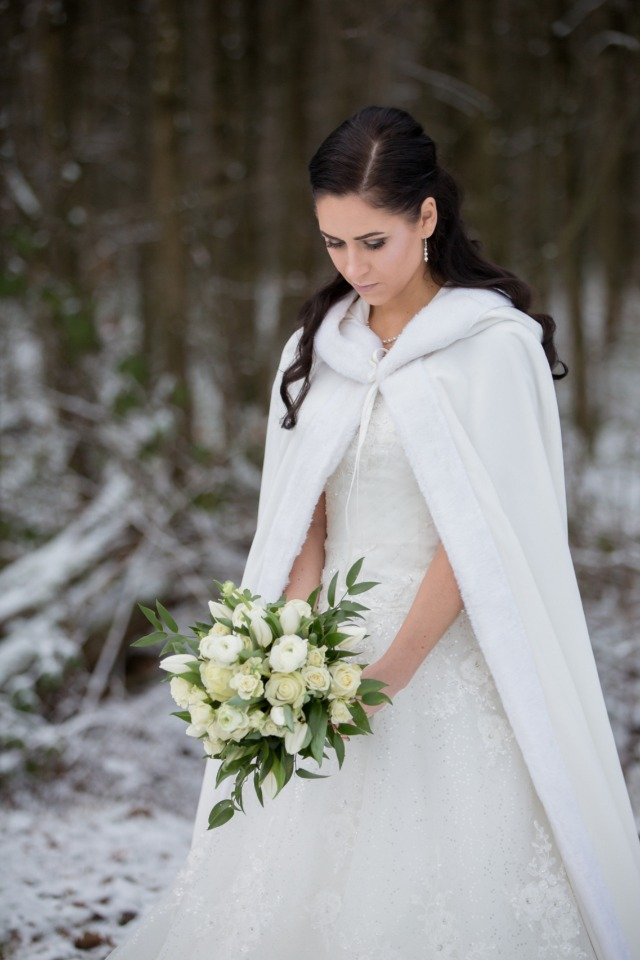 Winter bridal look
